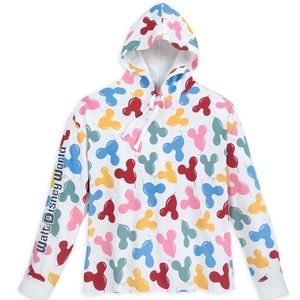 Disney by Junk Food Mickey Balloon Hoodie Raw Hem